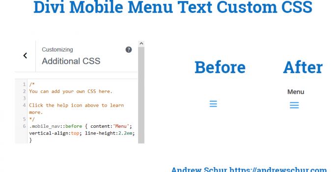 "Add the Word ""Menu"" To Divi Mobile Menu"