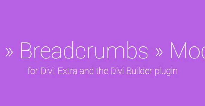 Divi Breadcrumb Example Featured